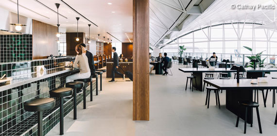 Exklusive First und Business Class Lounges am Hong Kong International Airport